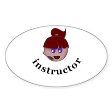 Instructor (Faith) Oval Decal