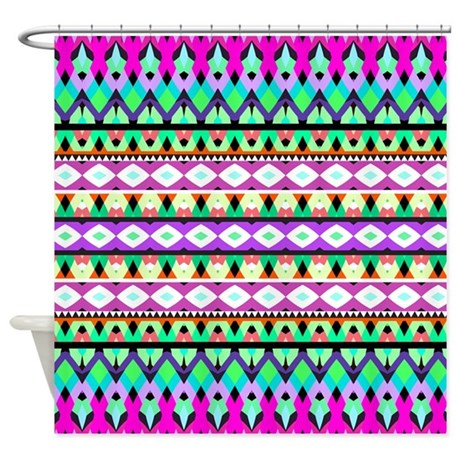 Mix #294, Girly Pattern Shower Curtain