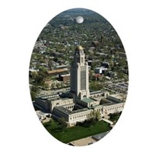 Aerial view of Nebraska State Capi Ornament (Oval)