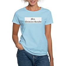 Mrs.  Christiano Ronaldo Women's Pink T-Shirt