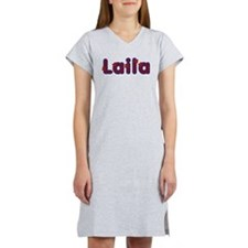 Laila Red Caps Women's Nightshirt