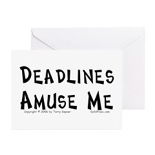 Deadlines... Greeting Cards (Pk of 10)