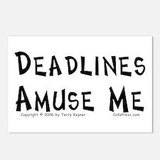 Deadlines... Postcards (Package of 8)