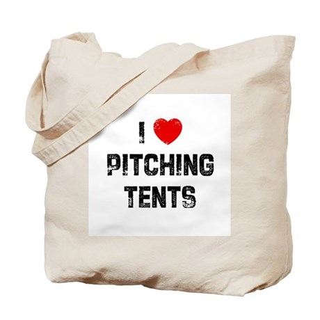 I * Pitching Tents Tote Bag