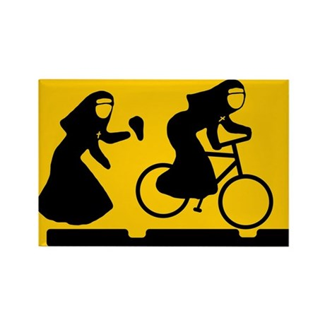 Bad Nuns Bicycle Rectangle Magnet