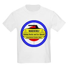 """""""Warning! Sliding Rocks..."""" T-Shirt"""