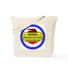 """""""Warning! Sliding Rocks..."""" Tote Bag"""