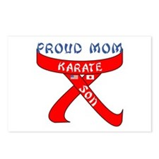 Proud Mom Karate Son Postcards (Package of 8)