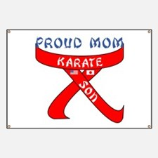 Proud Mom Karate Son Banner