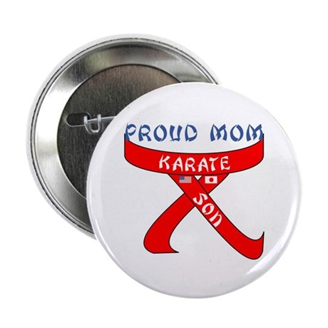 """Proud Mom Karate Son 2.25"""" Button (100 pack)"""