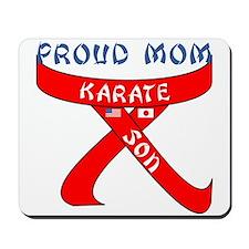 Proud Mom Karate Son Mousepad