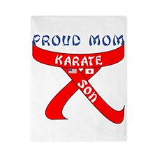Proud Mom Karate Son Twin Duvet