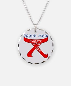 Proud Mom Karate Son Necklace
