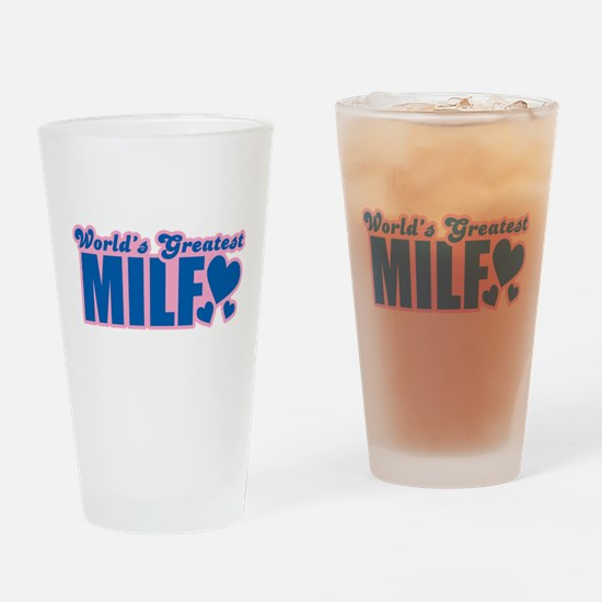 Worlds Greatest MILF Drinking Glass