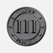 """Three Percent Silver 3.5"""" Button"""