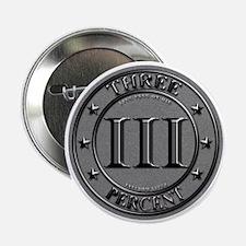 """Three Percent Silver 2.25"""" Button"""