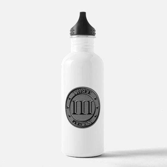 Three Percent Silver Water Bottle