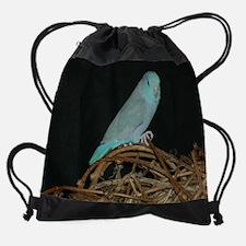 Blue Pacific Parrotlet Drawstring Bag