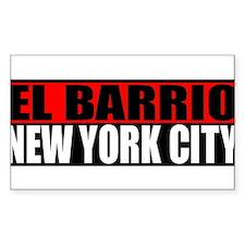 El Barrio New York City Rectangle Decal
