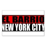 El Barrio New York City Rectangle Sticker