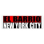 El Barrio New York City Bumper Sticker