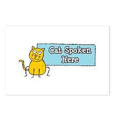 Cat Spoken Here Postcards (Package of 8)