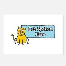 Cat Spoken Here Postcards (Package of 8)