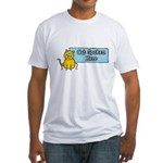 Cat Spoken Here Fitted T-Shirt