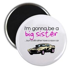 "Gonna be big sister (race car) 2.25"" Magnet (10 pa"