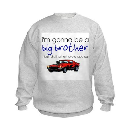 Gonna be big brother (race car) Kids Sweatshirt