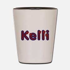 Kelli Red Caps Shot Glass