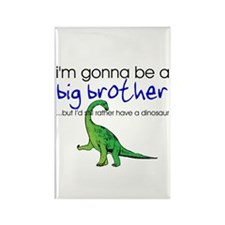 Gonna be big brother (dinosaur) Rectangle Magnet