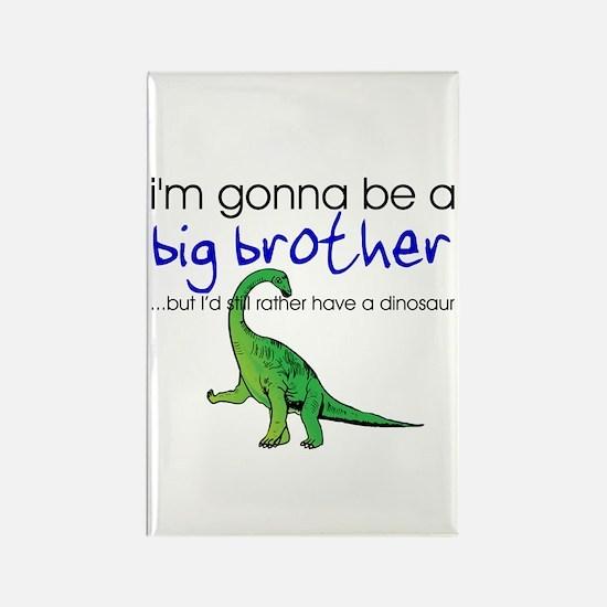 Gonna be big brother (dinosaur) Rectangle Magnet