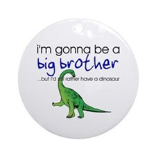Gonna be big brother (dinosaur) Ornament (Round)