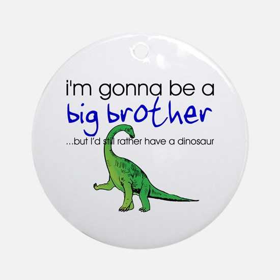 Gonna be big brother (dinosaur) Ornament (Round)