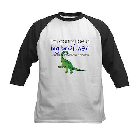 Gonna be big brother (dinosaur) Kids Baseball Jers