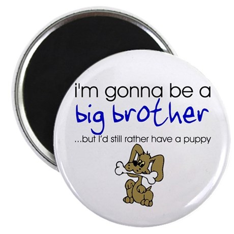 """Gonna be big brother (puppy) 2.25"""" Magnet (10 pack"""