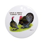 Turkey Day Ornament (Round)