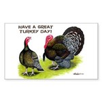 Turkey Day Rectangle Sticker