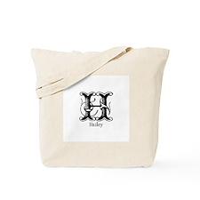 Hailey: Fancy Monogram Tote Bag