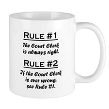 Rule Court Clerk Mugs