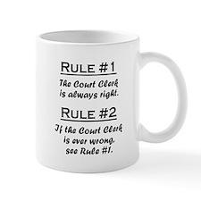 Rule Court Clerk Mugs