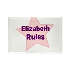 Elizabeth Rules Rectangle Magnet