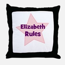 Elizabeth Rules Throw Pillow