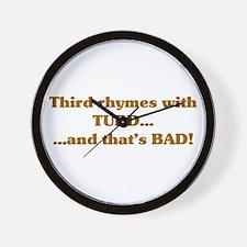 The Wisdom of T Wall Clock