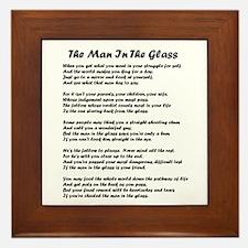 Man In Glass Blk Framed Tile