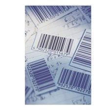 Barcodes and math notes f Postcards (Package of 8)