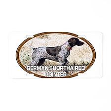 Cute German shorthair pointer dog hunting quail Aluminum License Plate