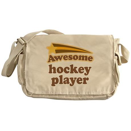 Awesome Hockey Player Messenger Bag