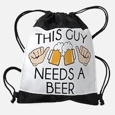 This Guy Needs A Beer Drawstring Bag